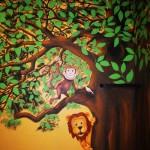 Kids tree mural