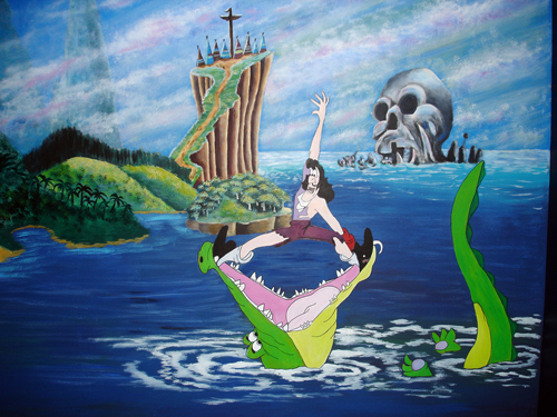 Captain-Hook-Alligator-Mural
