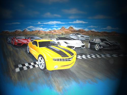 Race-Track-Cars-Mural